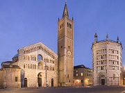 Piazza del Duomo, Baptistery and Cathedral, Parma
