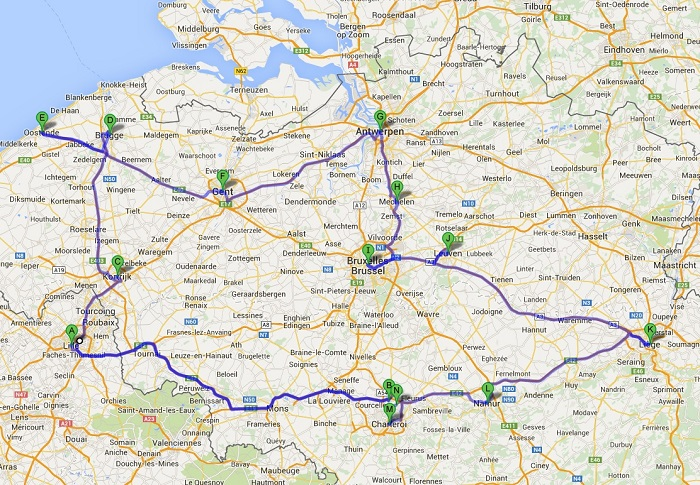 Plan puta po Belgiji sa Briselom_700